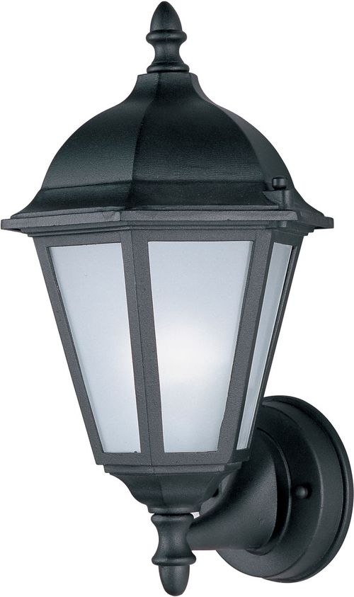 """Westlake E26 8"""" Single Light Upright Outdoor Wall Sconce in Black"""