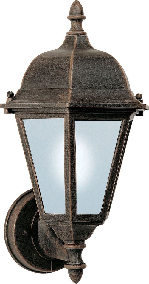 """Westlake E26 8"""" Single Light Upright Outdoor Wall Sconce in Rust Patina"""