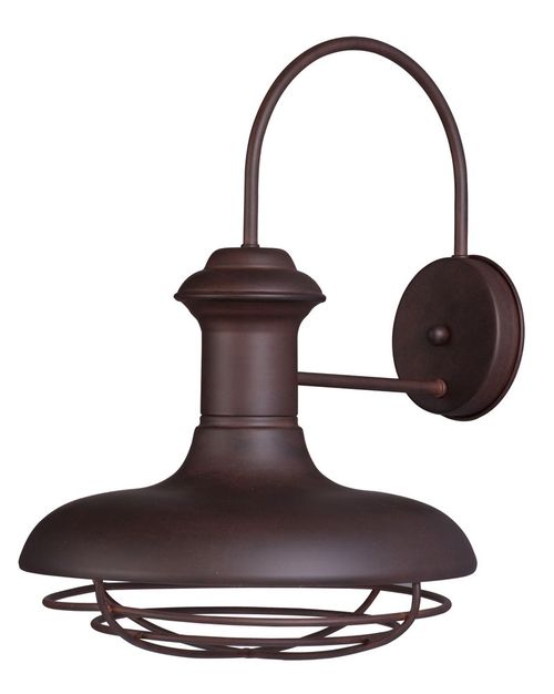 """Wharf 12"""" Single Light Outdoor Wall Sconce in Empire Bronze"""
