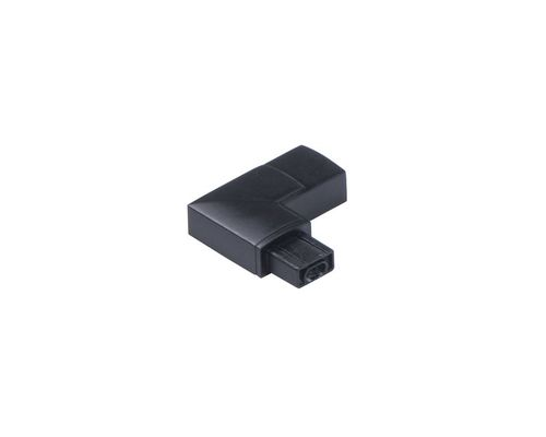 CounterMax MX-L-24-SS Under Cabinet Accessory 90 Degree Right Connector in Black