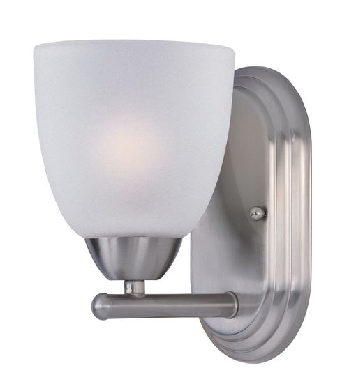 """Axis 5"""" Single Light Wall Sconce in Satin Nickel"""
