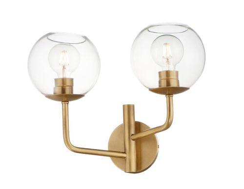 """Branch 17.5"""" 2 Light Wall Sconce in Natural Aged Brass"""