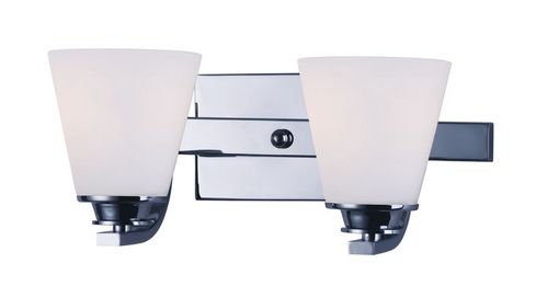 """Conical 13"""" 2 Light Vanity Lighting in Polished Chrome"""