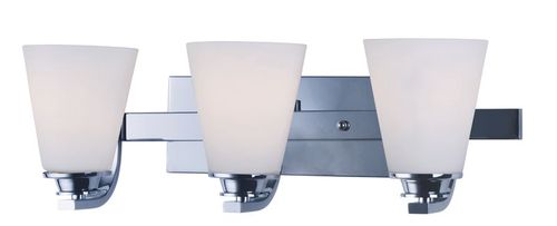 """Conical 19"""" 3 Light Vanity Lighting in Polished Chrome"""