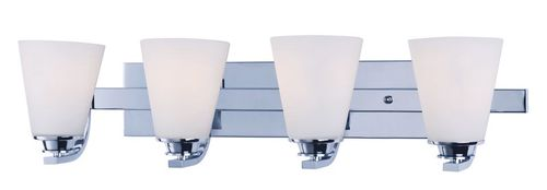 """Conical 26.25"""" 4 Light Vanity Lighting in Polished Chrome"""