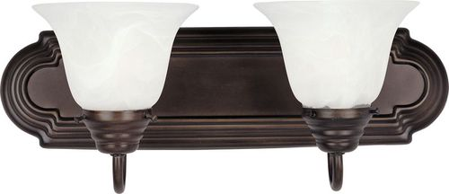 """Essentials - 801x 18"""" 2 Light Vanity Lighting Wall Sconce in Oil Rubbed Bronze"""