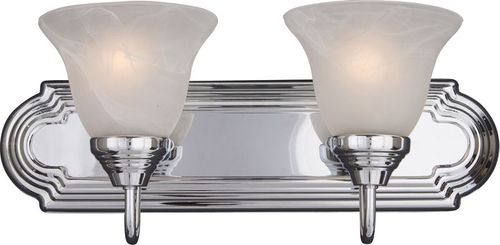 """Essentials - 801x 18"""" 2 Light Vanity Lighting Wall Sconce in Polished Chrome"""