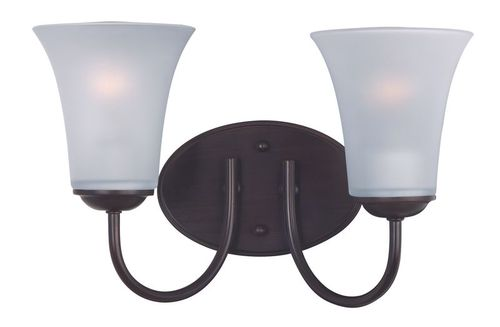 """Logan 14"""" 2 Light Wall Sconce in Oil Rubbed Bronze"""