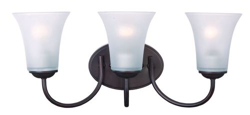 """Logan 19"""" 3 Light Wall Sconce in Oil Rubbed Bronze"""