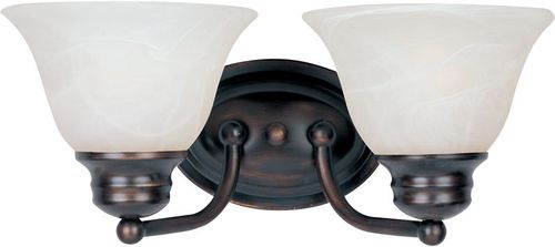 """Malaga 13.25"""" 2 Light Vanity Lighting Wall Sconce in Oil Rubbed Bronze"""