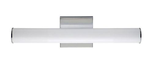 """Rail 18"""" Single Light Wall Sconce in Polished Chrome"""