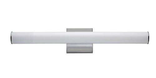 """Rail 24"""" Single Light Wall Sconce in Polished Chrome"""