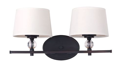 """Rondo 16.75"""" 2 Light Vanity Lighting Wall Sconce in Oil Rubbed Bronze"""