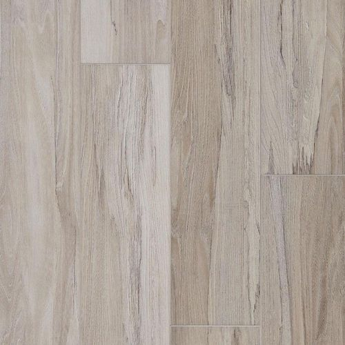 """Spalted Wych Elm 94"""" Dew Light Taupe Luxury Vinyl T-Molding"""
