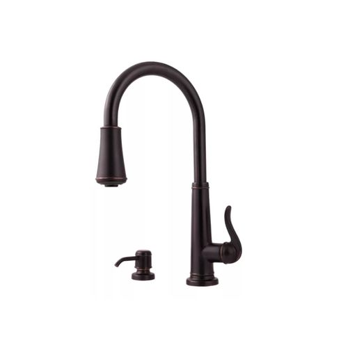 Ashfield Single-Handle Pull-Down Kitchen Faucet in Tuscan Bronze