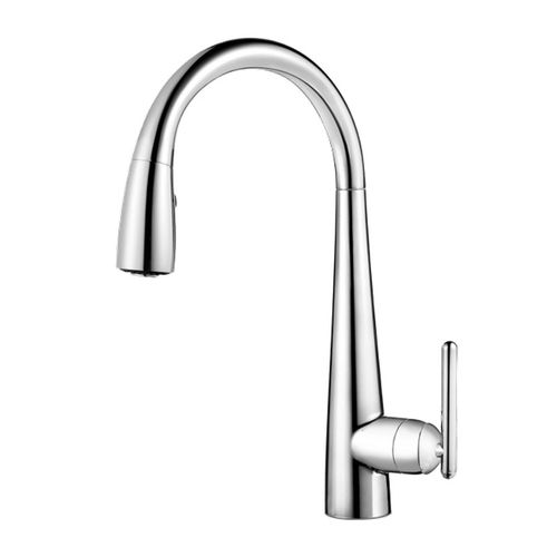 Lita Single-Handle Pull-Down Kitchen Faucet with GE Filtration System in Polished Chrome