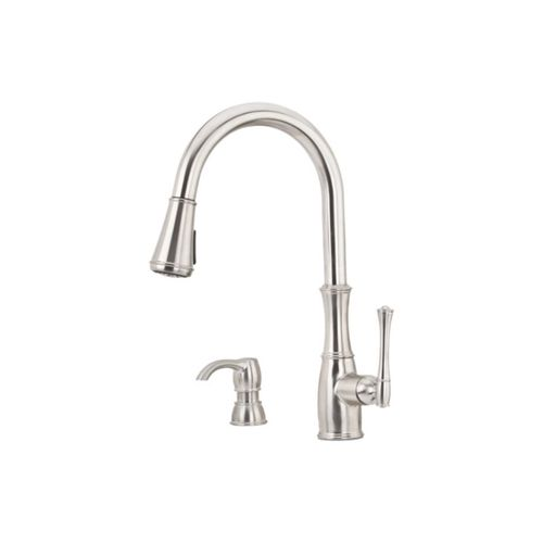 Wheaton Single-Handle Pull-Down Kitchen Faucet in Stainless Steel