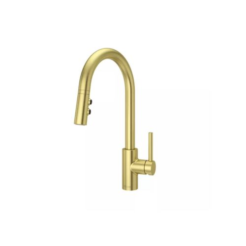 Stellen Pull-Down Kitchen Faucet in Brushed Gold