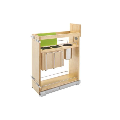 """448 Series Natural Maple Knife Block Base Pull-Out Organizer (8.75"""" x 21.63"""" x 25.5"""")"""