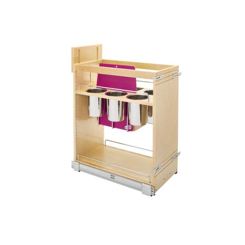"""448 Series Natural Maple Knife Block Base Pull-Out Organizer (11.75"""" x 21.63"""" x 25.5"""")"""