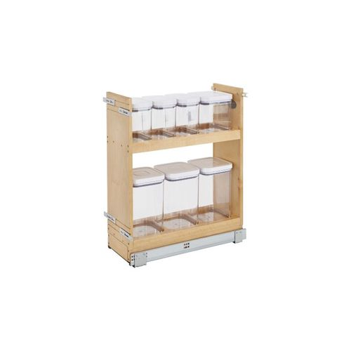 """448 Series Natural Maple OXO Base Pull-Out Organizer (8.75"""" x 21.63"""" x 29.5"""")"""