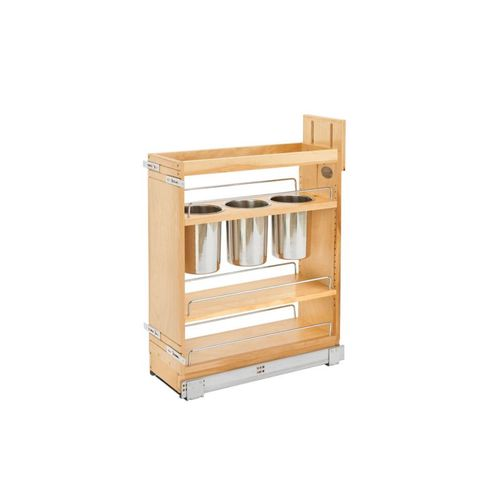 """448 Series Natural Maple Utensil Base Pull-Out Organizer (8.75"""" x 21.63"""" x 29.5"""")"""