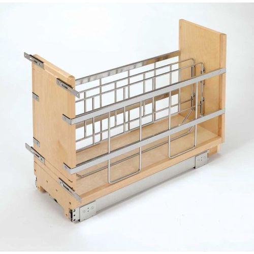 """447 Series Natural Maple Tray Divider Pull-Out Organizer (8"""" x 21.66"""" x 19.5"""")"""