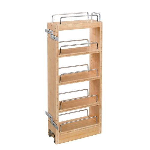 """448 Series Natural Maple Wall Pull-Out Organizer (8"""" x 10.75"""" x 27.84"""")"""