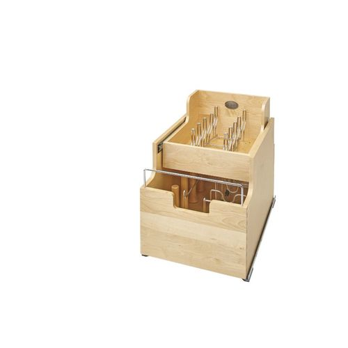 """4CW2 Series Natural Maple Pull-Out Organizer (14.5"""" x 22.25"""" x 18.88"""")"""