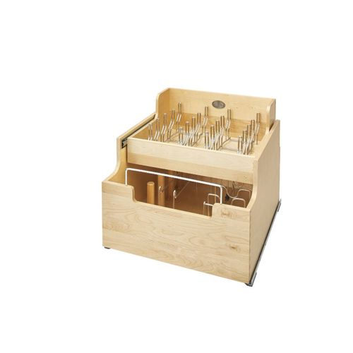 """4CW2 Series Natural Maple Pull-Out Organizer (20.5"""" x 22.25"""" x 18.88"""")"""