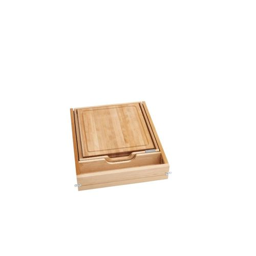"""4KCB Series Natural Maple Two-Tier Cutlery Organizer (18"""" x 22.13"""" x 4.38"""")"""