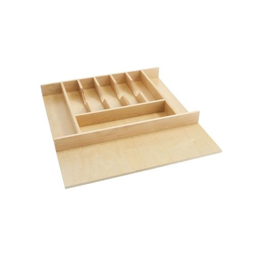 """4WCT Series Natural Maple Wood-Insert Cutlery Tray (20.63"""" x 22"""" x 2.88"""")"""
