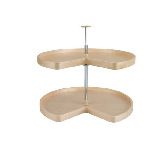 """LD Series Natural Banded Maple Kidney Lazy Susan (32"""" x 32"""" x 26"""")"""
