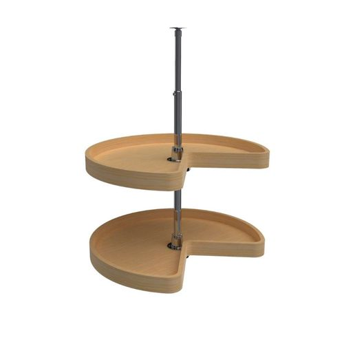"""4WLS472 Series Natural Maple Kidney Lazy Susan (24"""" x 24"""" x 26"""")"""