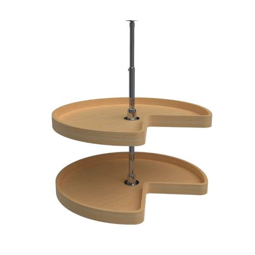 """4WLS472 Series Natural Maple Kidney Lazy Susan (28"""" x 28"""" x 26"""")"""