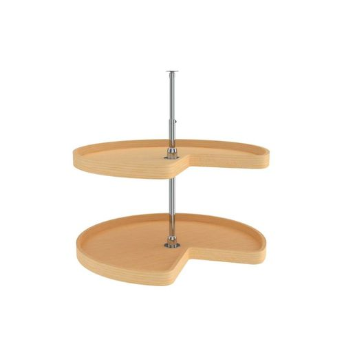 """4WLS472 Series Natural Maple Kidney Lazy Susan (32"""" x 32"""" x 26"""")"""