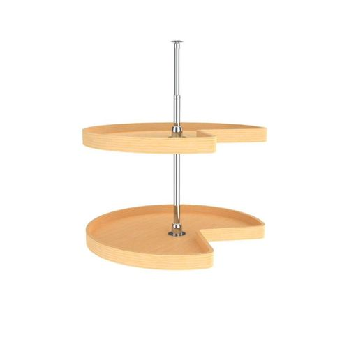 """LD Series Natural Maple Kidney Lazy Susan (28"""" x 28"""" x 26"""")"""