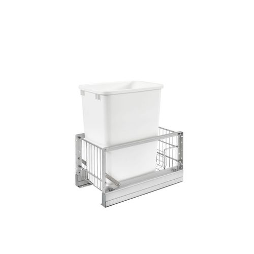 """5349 Series White Bottom-Mount Single Waste Container Pull-Out Organizer (10.81"""" x 18"""" x 19.31"""")"""