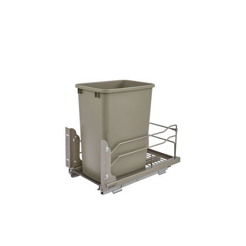 """53WC Series Champagne Undermount Single Waste Container Pull-Out Organizer (10.88"""" x 22.25"""" x 19"""")"""
