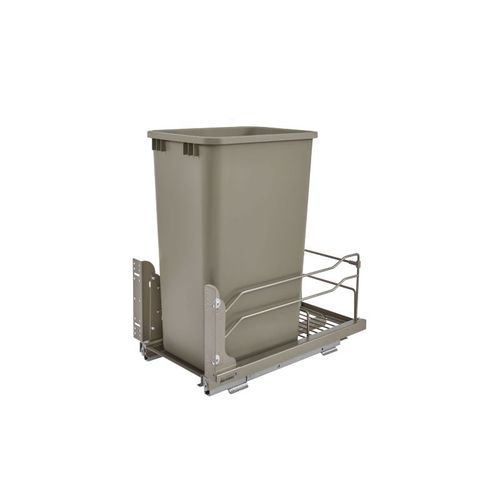 """53WC Series Champagne Undermount Single Waste Container Pull-Out Organizer (10.88"""" x 22.25"""" x 23"""")"""