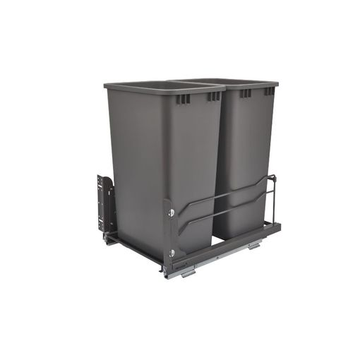 """53WC Series Orion gray Undermount Double Waste Container Pull-Out Organizer (14.75"""" x 22.25"""" x 23"""")"""