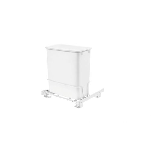 """RV Series White Bottom-Mount Single Waste Container Pull-Out Organizer (8.5"""" x 14.56"""" x 16.56"""")"""