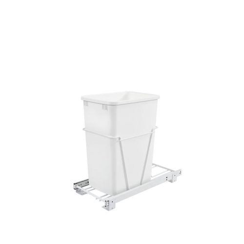 """RV Series White Bottom-Mount Single Waste Container Pull-Out Organizer (10.63"""" x 22"""" x 19"""")"""
