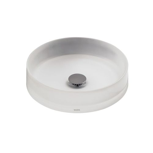 Toto Epoxy Resin Vessel Bathroom Sink in Frosted White