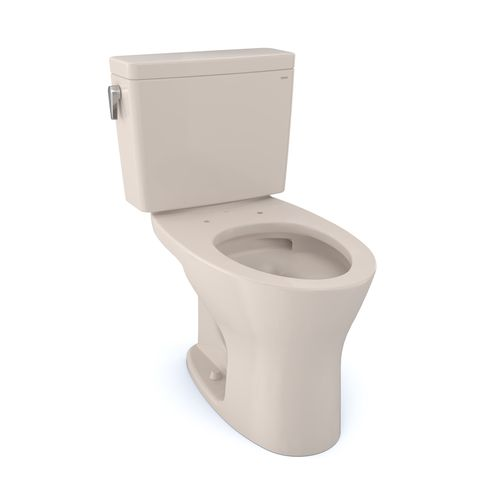 """Drake Two-Piece Dual-Flush Universal-Height Elongated Toilet with CEFIONTECT - Sedona Beige (27.38"""" x 30.06"""" x 17.31"""")"""