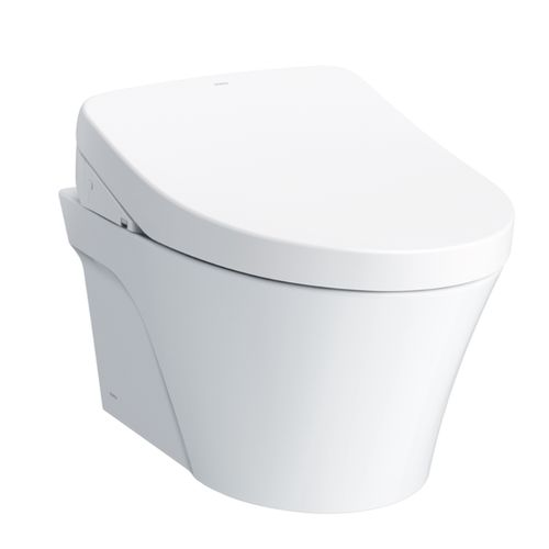"""AP Wall-Hung Elongated Toilet with S500e WASHLET+ and DuoFit In-Wall Tank System - Matte Silver (21.25"""" x 50.38"""" x 25.4"""")"""