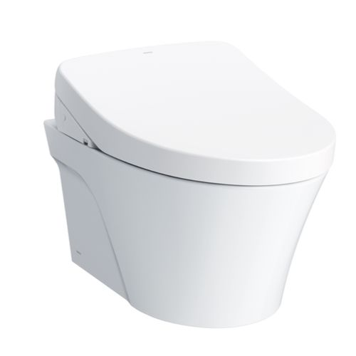 """AP Wall-Hung Elongated Toilet with S550e WASHLET+ and DuoFit Tank System - Matte Silver (21.25"""" x 50.38"""" x 25.4"""")"""