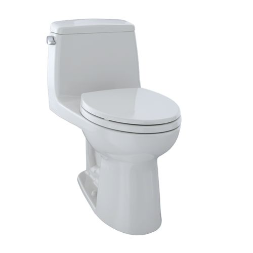"""Eco UltraMax One-Piece Elongated Toilet - Colonial White (28"""" x 27.13"""" x 16.5"""")"""