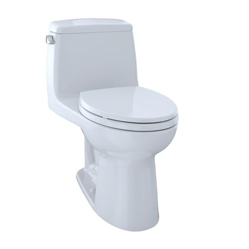 """UltraMax One-Piece Elongated Toilet with CEFIONTECT - Cotton White (28"""" x 27.13"""" x 16.5"""")"""