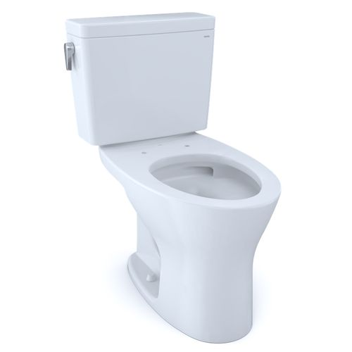 """Drake Two-Piece Dual-Flush Universal-Height Elongated Toilet with CEFIONTECT - Cotton White (27.38"""" x 30.06"""" x 17.31"""")"""